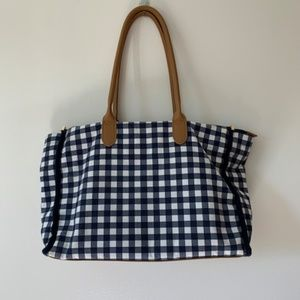 Blue Gingham Small Tote Bag